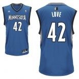Divise Basket Personalizzate NBA Minnesota Timberwolves NO.42 Kevin Love Blu