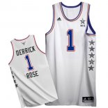 Divise Basket Personalizzate NBA 2015 All Star NO.1 Derrick Rose Bianco