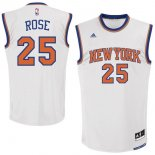 Divise Basket Personalizzate NBA New York Knicks NO.25 Derrick Rose Bianco