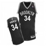 Divise Basket Personalizzate NBA Brooklyn Nets NO.34 Paul Pierce Nero
