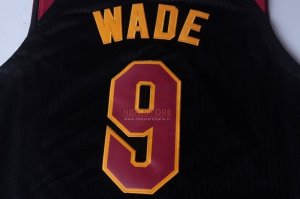 Divise Basket Personalizzate NBA Cleveland Cavaliers NO.9 Dwyane Wade Nero 2017/2018
