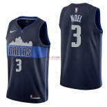 Divise Basket Personalizzate NBA Dallas Mavericks NO.3 Nerlens Noel Nero Statement 2017/2018