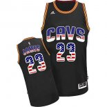 Divise Basket Personalizzate NBA USA Flag Special Edition NO.23 James Nero