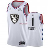 Divise Basket Personalizzate NBA 2019 All Star DAngelo Russell NO.1 Bianco