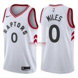 Divise Basket Personalizzate NBA Toronto Raptors NO.0 CJ Miles Bianco Association 2017/2018