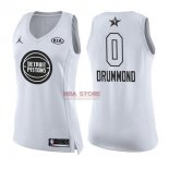 Divise Basket Personalizzate NBA Donna 2018 All Star NO.0 Andre Drummond Bianco