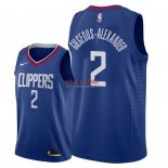 Divise Basket Personalizzate NBA L.A.Clippers NO.2 Shai Gilgeous Alexander Blu Icon 2018