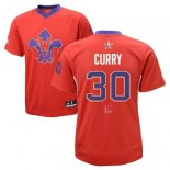 Divise Basket Personalizzate NBA 2014 All Star NO.30 Stephen Curry Rosso