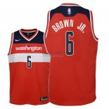 Divise Basket Personalizzate NBA Bambino Washington Wizards NO.6 Troy Brown Jr Rosso Icon 2018