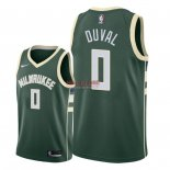 Divise Basket Personalizzate NBA Milwaukee Bucks NO.0 Trevon Duval Verde Icon 2018