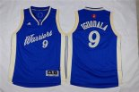 Divise Basket Personalizzate NBA Bambino 2015 Natale Golden State Warriors NO.9 Andre Iguodala Blu
