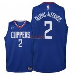 Divise Basket Personalizzate NBA Bambino L.A.Clippers NO.2 Shai Gilgeous Alexander Blu Icon 2018
