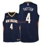 Divise Basket Personalizzate NBA Bambino New Orleans Pelicans NO.4 Elfrid Payton Marino Icon 2018