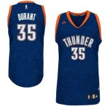 Divise Basket Personalizzate NBA Oklahoma City Thunder Luce Leopard NO.35 Durant Blu
