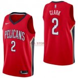 Divise Basket Personalizzate NBA New Orleans Pelicans NO.2 Ian Clark Rosso Statement 2017/2018
