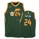 Divise Basket Personalizzate NBA Bambino Earned Edition Utah Jazz NO.24 Grayson Allen Verde 2018-19