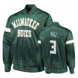 Divise Basket Personalizzate Giacca uomo De NBA Milwaukee Bucks NO.3 George Hill Vert