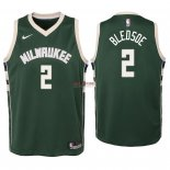 Divise Basket Personalizzate NBA Bambino Milwaukee Bucks NO.6 Eric Bledsoe Verde Icon 2018