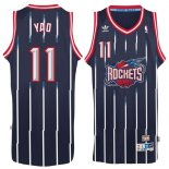 Divise Basket Personalizzate NBA Houston Rockets NO.11 Yao Ming Retro Blu