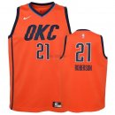 Divise Basket Personalizzate NBA Bambino Earned Edition Oklahoma City Thunder NO.21 Andre Roberson Arancia 2018-19