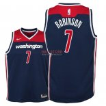 Divise Basket Personalizzate NBA Bambino Washington Wizards NO.7 Devin Robinson Marino Statement 2018
