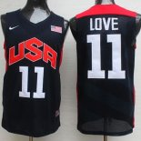 Divise Basket Personalizzate NBA 2012 USA Kevin Love NO.11 Nero