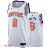 Divise Basket Personalizzate NBA New York Knicks NO.6 Elfrid Payton Bianco Statement 2019-20