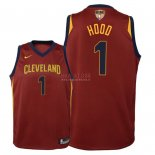Divise Basket Personalizzate NBA Bambino Cleveland Cavaliers Finale Campioni 2018 NO.1 Rodney Hood Rosso Icon Patch