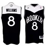 Divise Basket Personalizzate NBA Brooklyn Nets NO.8 Deron Michael Williams Nero Bianco