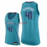 Divise Basket Personalizzate NBA Donna Charlotte Hornets NO.41 Willy Hernangomez Verde Icon 2018