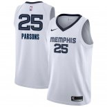 Divise Basket Personalizzate NBA Memphis Grizzlies NO.25 Chandler Parsons Bianco Association 2018/2019