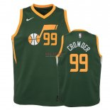 Divise Basket Personalizzate NBA Bambino Earned Edition Utah Jazz NO.99 Jae Crowder Verde 2018-19