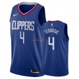 Divise Basket Personalizzate NBA L.A.Clippers NO.4 Milos Teodisic Blu Icon 2018