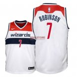 Divise Basket Personalizzate NBA Bambino Washington Wizards NO.7 Devin Robinson Bianco Association 2018