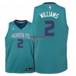 Divise Basket Personalizzate NBA Bambino Charlotte Hornets NO.2 Marvin Williams Verde Icon 2018