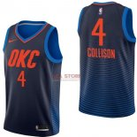 Divise Basket Personalizzate NBA Oklahoma City Thunder NO.4 Nick Collison Marino Statement 2017/2018