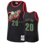 Divise Basket Personalizzate NBA Seattle SuperSonics 2018 Natale NO.20 Gary Payton Nero