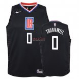 Divise Basket Personalizzate NBA Bambino L.A.Clippers NO.0 Sindarius Thornwell Nero Statement 2018