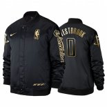 Divise Basket Personalizzate Giacca uomo De NBA Houston Rockets NO.0 Russell Westbrook Noir