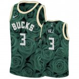 Divise Basket Personalizzate NBA Nike Milwaukee Bucks NO.3 George Hill Verde