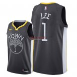 Divise Basket Personalizzate NBA Golden State Warriors NO.1 Damion Lee Nero Statement 2018