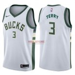 Divise Basket Personalizzate NBA Milwaukee Bucks NO.3 Jason Terry Bianco Association 2017/2018