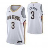 Divise Basket Personalizzate NBA Nike New Orleans Pelicans NO.3 Stanley Johnson Bianco Association