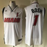 Divise Basket Personalizzate NBA Miami Heat NO.1 Chris Bosh Retro Bianco