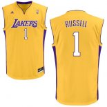 Divise Basket Personalizzate NBA L.A.Lakers NO.1 D'Angelo Russell Giallo