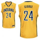 Divise Basket Personalizzate NBA Indiana Pacers NO.24 Paul George Giallo