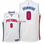 Divise Basket Personalizzate NBA Bambino Detroit Pistons NO.0 Andre Drummond Bianco Association 2018