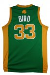 Divise Basket Personalizzate NBA Boston Celtics NO.33 Larry Joe Bird Verde Arancia