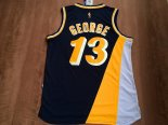 Divise Basket Personalizzate NBA Indiana Pacers NO.13 Paul George Retro Nero