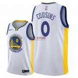 Divise Basket Personalizzate NBA Golden State Warriors NO.0 DeMarcus Cousins Bianco Association 2018